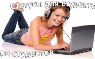Про студенческую жизнь статусы