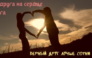 Пословицы про дружбу и друзей