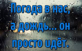 Про дождь статусы