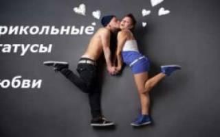 Статусы смешные про любовь