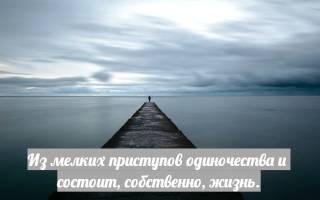Цитаты афоризмы одиночество